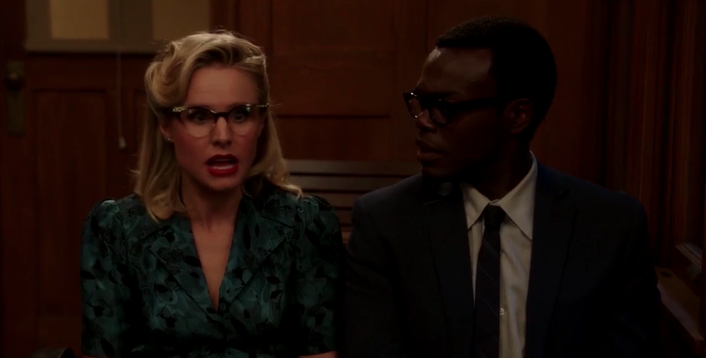 The Good Place Rhonda Diana Jake and Trent