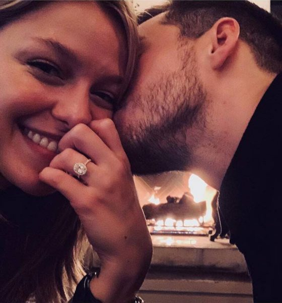 Melissa Benoist and Chris Woods married