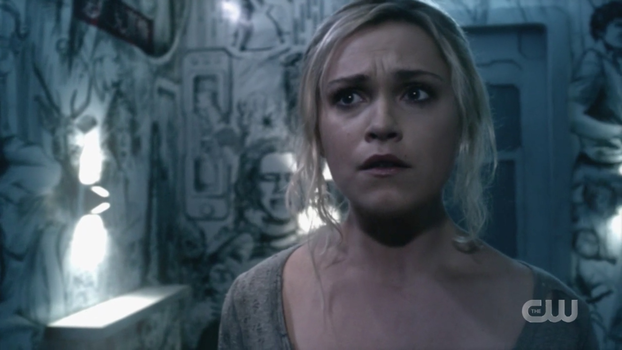 The 100's Clarke Griffin in her prisoner cell.