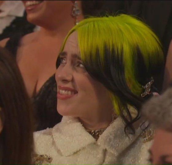 Billie Eilish meme at the 2020 Oscars