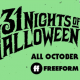 31 Nights of Halloween Schedule 2020