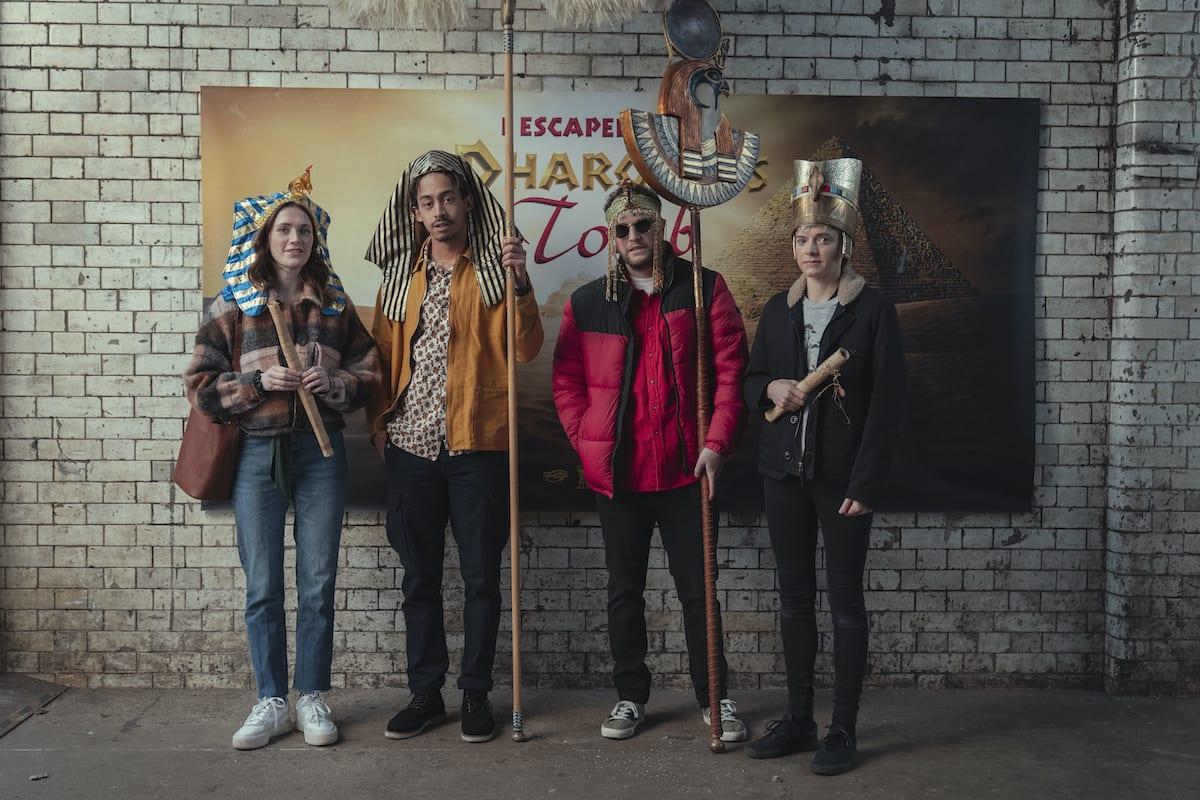 George, Elliot, Jack, and Mae on Feel Good Season 2.