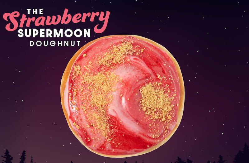 Krispy Kreme Launches Supermoon-Inspired Doughnut